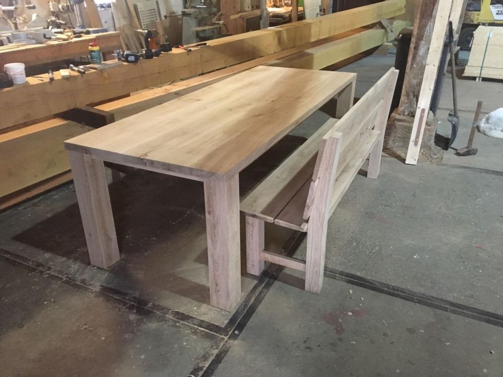 Tafel met bank sietse ronner scheepstimmerwerk landelijk bouwen en meubels - Tafel met chevet ...